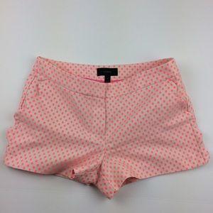 J. Crew scalloped pocket polka dot shorts
